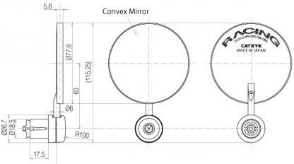 Огледало Cateye BM-300G